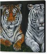 Two Tigers Oil Painting Canvas Print