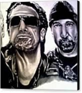 U2 Canvas Print by Pauline Murphy