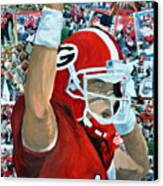 Uga Celebrates Canvas Print by Michael Lee