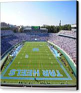 Unc Kenan Stadium Endzone View Canvas Print by Replay Photos