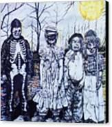 Under A Halloween Moon Canvas Print