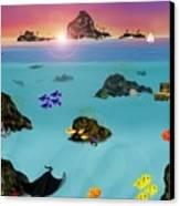 Undersea View Canvas Print by Tanya Van Gorder