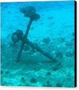 Underwater Anchor Canvas Print