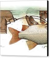Underwater Canvas Print by Kestutis Kasparavicius