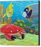 Underwater Sea Friends Canvas Print by Martin Davey