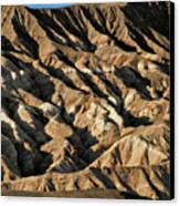 Unearthly World - Death Valley's Badlands Canvas Print by Christine Till