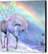 Unicorn Of The Rainbow Canvas Print