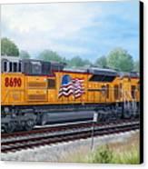 Union Pacific 8690 Canvas Print by RB McGrath