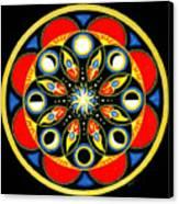 Universal Light  Mandala Canvas Print