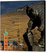 University Of Montana Icons Canvas Print by Katie LaSalle-Lowery