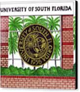University Of South Florida Canvas Print by Frederic Kohli