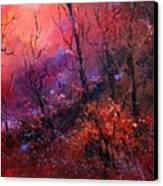 Unset In The Wood Canvas Print