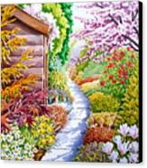Up The Garden Path Canvas Print by Debbie  Diamond