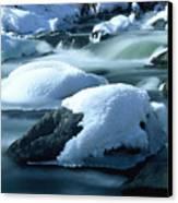 Upper Provo River In Winter Canvas Print