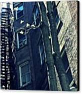 Upper West Side Apartment Building Canvas Print by Sarah Loft
