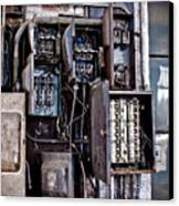 Urban Decay  Fuse Box Canvas Print by Edward Myers