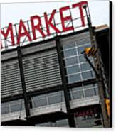Urban Market Canvas Print