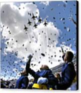 U.s. Air Force Academy Graduates Throw Canvas Print by Stocktrek Images