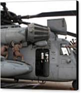 U.s. Marines Perform Preflight Checks Canvas Print by Stocktrek Images