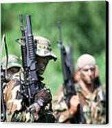 Us Navy Seals In Warfare Training Canvas Print by Everett