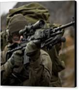 U.s. Special Forces Soldier Armed Canvas Print