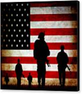Usa Military Canvas Print