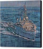 Uss Juneau Lpd 10 Canvas Print by Donald Maier