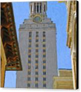 Ut University Of Texas Tower Austin Texas Canvas Print
