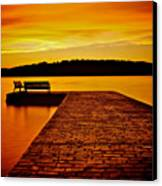 Vacant Sunset Canvas Print by Mark Miller