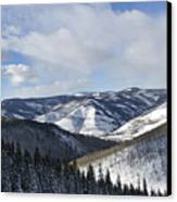 Vail Valley From Ski Slopes Canvas Print by Brendan Reals