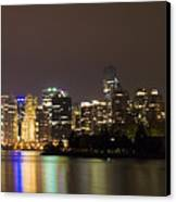 Vancouver By Night Canvas Print
