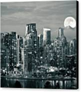 Vancouver Moonrise Canvas Print