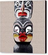 Vancouver Totem - 1 Canvas Print