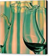 Vase And Glass Canvas Print