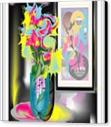 Vase And Painting Canvas Print