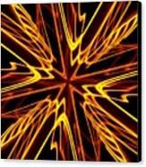 Vectoring The Neon Canvas Print by David Dunham