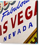 Vegas Tribute Canvas Print