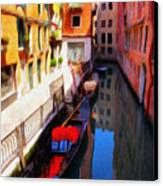 Venetian Canal Canvas Print by Jeff Kolker