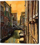 Venezia Al Tramonto Canvas Print by Guido Borelli