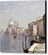 Venice - View Of Campo Della Carita Looking Towards The Dome Of The Salute Canvas Print