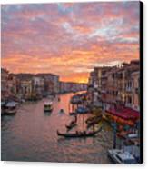 Venice At Sunset - Italy Canvas Print