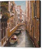 Venice-canale Veneziano Canvas Print by Italian Art