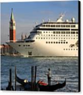 Venice Cruise Ship 2 Canvas Print by Andrew Fare