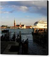 Venice Cruise Ship Canvas Print by Andrew Fare