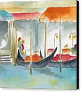 Venice Gondolas Canvas Print by Pat Katz