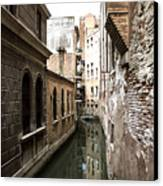 Venice One Way Street Canvas Print by Milan Mirkovic