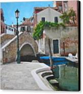Venice Piazzetta And Bridge Canvas Print by Italian Art