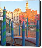 Venice Rialto Bridge Canvas Print by Heiko Koehrer-Wagner