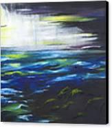 Ventura Seascape At Night Canvas Print