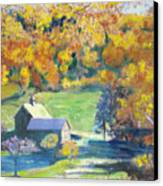 Vermont Farm Canvas Print by Lyn Vic
